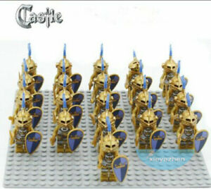 21PCS-Medieval-Castle-Lord-Gold-Milan-Helm-Knight-Army-Building-Blocks-DIY-Toys