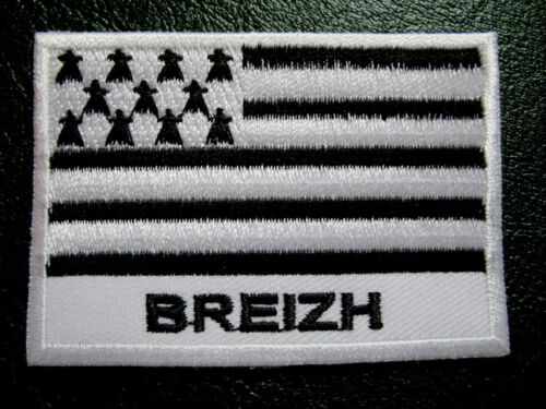 BREIZH BRITTANY BRETAGNE BERTAEYN FLAG Sew on Patch Free Postage