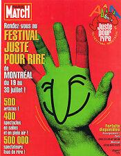 PUBLICITE ADVERTISING  1995   FESTIVAL JUSTE POUR RIRE  de MONTREAL