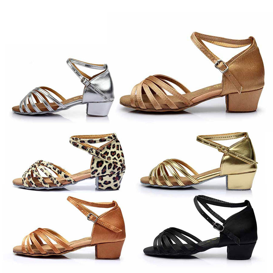 Women Ballroom Flat heeled Salsa tango latin dance shoes girls big kids Suede