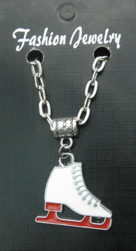 """20/"""" or 24/"""" Inch Chain Necklace /& Ice Skate Pendant Charm Skating Souvenir Gift"""