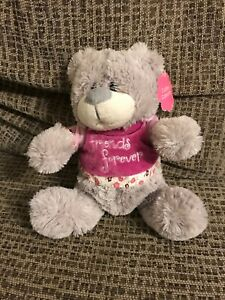 Grey-Friends-For-Ever-Grey-Bear-Plush-Soft-Toy-Comforter-With-Tags