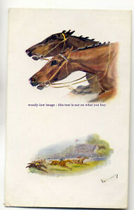 an0577-Mans-Best-Friend-Steeplechase-Artist-N-Drummond-Postcard-Tuck-039-s