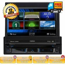 "Clarion single din 7"" touchscreen flip out car sat nav with bluetooth"