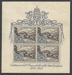 Vatican stamps 1952 YV Bloc 1 MNH VF
