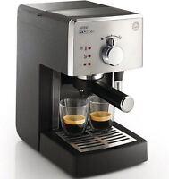 Philips Saeco Manual Espresso Machine With Pressurized Crema Filter Hd8325