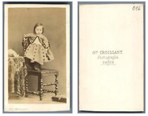 100% De Qualité G. Croissant, Une Enfant Pose Cdv Vintage Albumen Carte De Visite, Tirage Alb Une Grande VariéTé De ModèLes