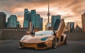 Lamborghini Aventador CN Tower Car Auto Art Silk Wall Poster Print 24x36""