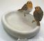 Robin-Bird-Bath-feeder-aged-stone-effect-bowl-ideal-garden-bird-robin-lover-gift miniatuur 5