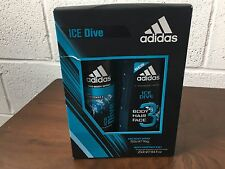 0b45e2ed73e5 (TWO)ADIDAS ICE DIVE GIFT SET 150ML DEODORANT BODY SPRAY + 250ML SHOWER GEL