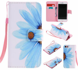 Painting-Luxury-Magnetic-3Slots-Flip-Leather-Stand-Case-Wallet-Cover-For-Samsung