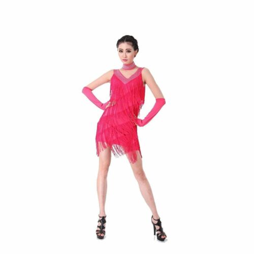 Latin Dance Dress Salsa Tango Cha cha Ballroom Competition Leopard Dress S-3XL