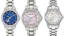 Bulova Women's Quartz Heart Motif Crystal Accents Multiple Colors 30mm Watches