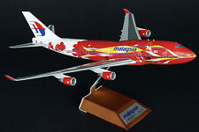 "Malaysia B747-400 ""Hibiscus"" Reg 9M-MPB JC  1:200 Diecast BBOX2526 WHITE BOX!!"