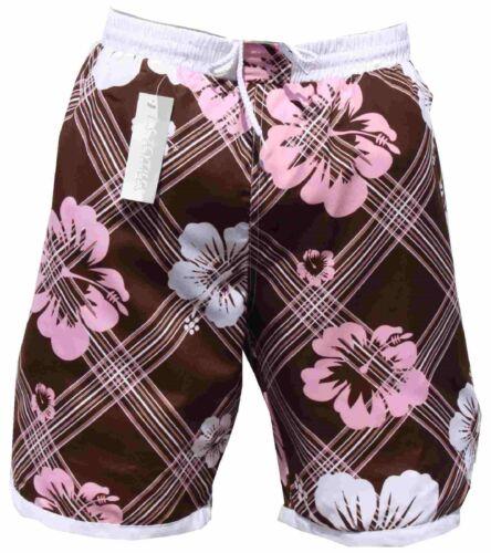 Uomo Donna Bermuda Pantaloncini Da Bagno Costume PANTS Mokka Marrone In S