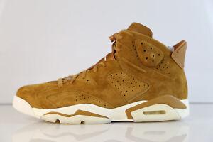 bb3de163112e7e Nike Air Jordan Retro 6 Golden Harvest Wheat Suede 384664-705 8-12 5 ...