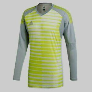 Adidas Climalite AdiPro 18 L/S Striped Goalkeeper Soccer Jersey ...
