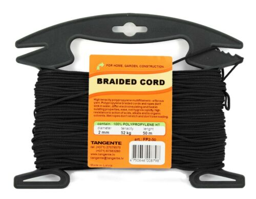 Polypropylene Cord 2 mm//50 m Braided Color Cord for Fishing from Manufacturer