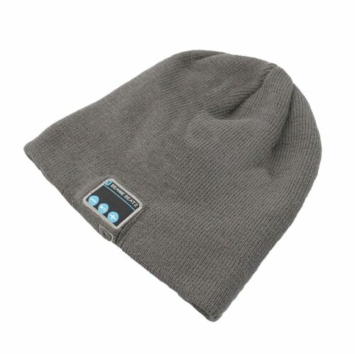 Noir Gris Beanie Audio Beatz Chapeau Bluetooth Rechargeable mains libres casque