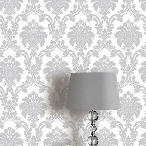 Image Is Loading ROMEO DAMASK WALLPAPER ROLLS GREY ARTHOUSE 693503 NEW