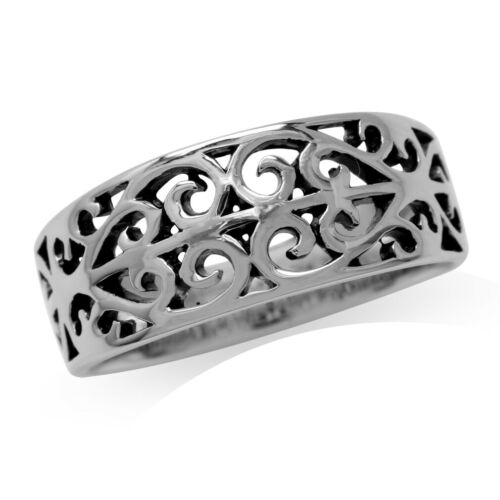 925 Sterling Silver Scroll//Filigree Victorian Style Ring SZ 5