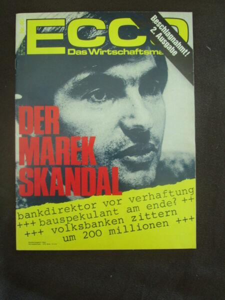 100% Wahr Ecco 1974 Wirtschaftsmagazin Alfred Marek Skandal Immobilie Volksbank Wurst Wien