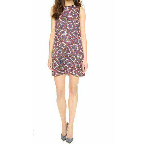Theory Parsley Prints Sleeveless Silk Shift mini d