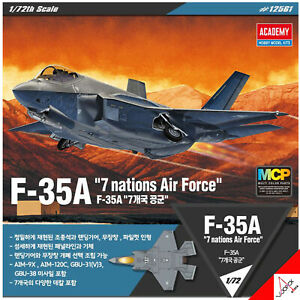 Academy-1-72-F-35A-034-7-Nations-Air-Force-034-MCP-Hobby-Plastic-Model-Kit-12561-New