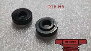 M6 x 20 Flachrundschraube Schlitz Polyamid Kunststoff PA schwarz 10 Stück