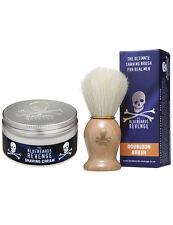 The Bluebeards Revenge Mens Shaving Doubloon Bristle Brush and 100ml Cream Set