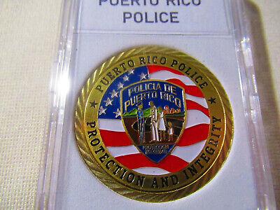 POLICIA de PUERTO RICO GOOD LUCK CHALLENGE COIN QUARTER