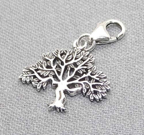 925 Sterling Silber Charm Armband Anhänger Glück Talisman Lebensbaum Bonsai Etui