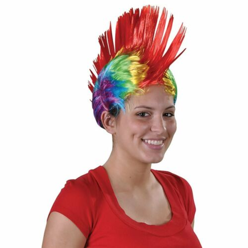 Rainbow Mohawk Wig Costume Party Wig