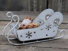 Schlitten Chic Antique Deko Weihnachten Vintage French shabby chic Landhaus weiß