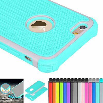 Hybrid Shockproof Rugged Rubber Armor Case Cover Skin for iPhone 6 6s Plus 5s SE