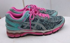Details about Asics Gel Kayano Blue Pink Mesh Athletic Low Sneaker Running  Women's Shoe 10M 42