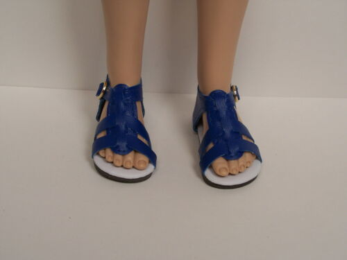 """Debs DK BLUE Strappy Sandals Doll Shoes For 16/"""" Kish Spring Summer Winter Fall"""