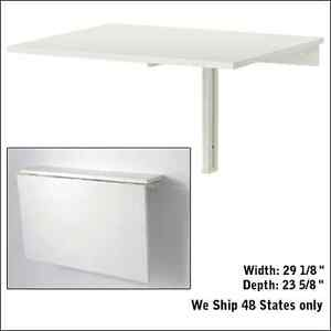 dinning folded folding down desk wall mounted drop leaf small table ikea white ebay. Black Bedroom Furniture Sets. Home Design Ideas