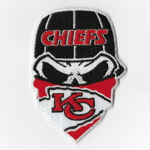 Kansas-City-Chiefs-Iron-on-Patches-Embroidered-Patch-Applique-Skull-Mask-Sew-FN