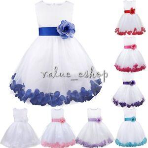 Flower-Girl-Dress-Party-Birthday-Princess-Bridesmaid-Wedding-Formal-Bowknot-Gown