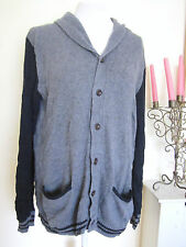 Mens Gap Knitted Sport Long Cardigans Top Size M Grey Sweater Jumper Casual Work