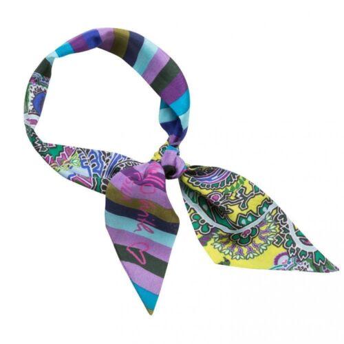CODELLO mini Soie-Foulard Scarf twilly Digital Stripe Rayures Paisley 82072704