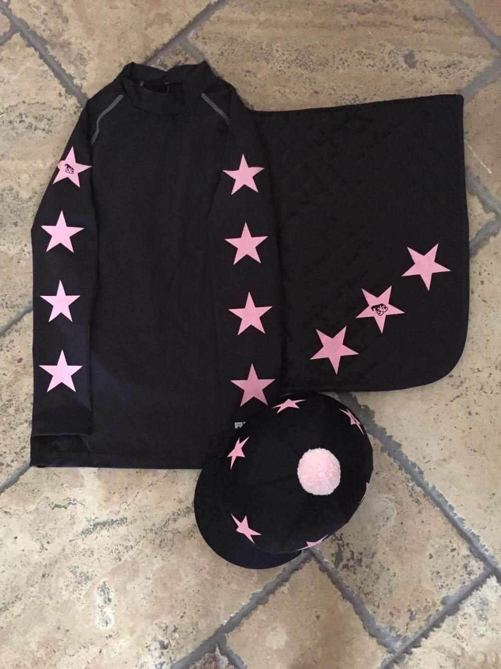 SXC Star Cross Country Color XC concurso completo Sombrero cubierta de seda Paño de silla de montar Equine