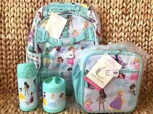 Pottery Barn Aqua Disney Princess Large Backpack Lunch Box
