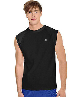 Champion Cotton T Shirt  Men's Raglan Cap Sleeveless Muscle T2230  ALL SIZES