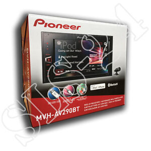 Pioneer-MVH-AV290BT-MP3-Autoradio-Doppel-DIN-mit-Bluetooth-USB-iPod-AUX-IN-Tuner