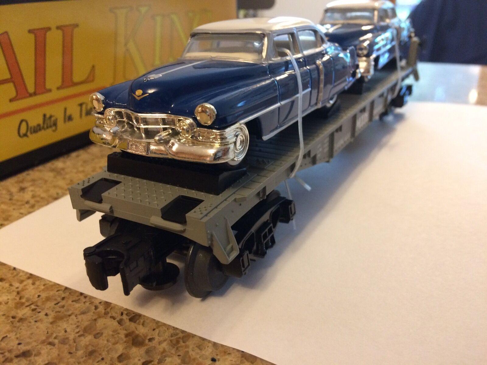Rare First Mth Flat Car With Ertl 52 Cadillacs RK-7607L NIB
