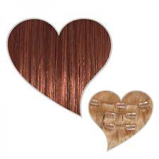 Clip-In-Extensions 70 Gramm Set 30 cm mahagonibraun #33 Echthaar Haarteile Clips