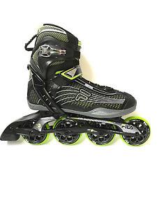 Fila-Plume-84-black-green-Magnesium-Freizeit-Fitness-Inliner-Skates-4070-Gr-42
