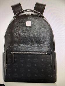 MCM black visetos backpack